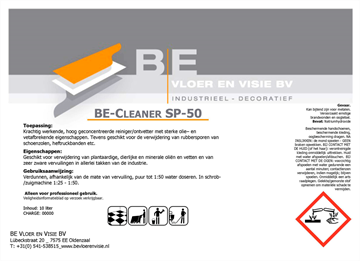 BE-Cleaner SP-50  /  Can à 10 liter
