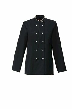 Cesena dames servicejas black and sand piping maat S (40)
