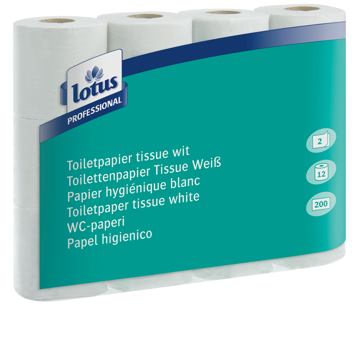 Lotus Conventional toilet paper 2-laags tissue wit 72 x 200 vel (C06274) (met staffelkorting)