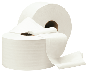 Lotus Mini Jumbo toilet paper 2-laags tissue wit 12 rollen (K11519) (met staffelkorting)