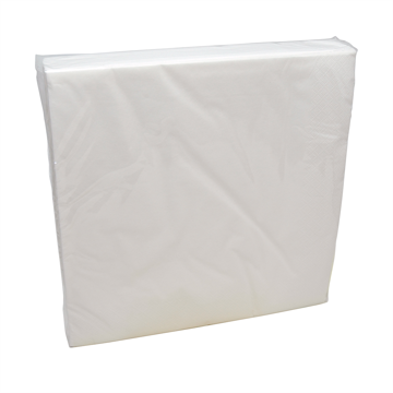 2-laags servetten 50 x 50 1/4, pure cellulose, wit (T32213) (met staffelkorting!)