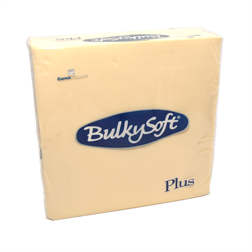 2-laags Point to Point servetten 38 x 38 1/4, pure cellulose, crème (T32800) (met staffelkorting!)