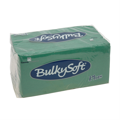 2-laags Point to Point servetten 38 x 38 1/8, pure cellulose, groen (T32072) (met staffelkorting!)