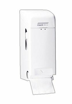 Mediclinics toiletroldispenser 2 rollen wit (PRO784)