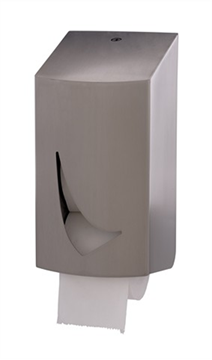 Wings toiletroldispenser RVS Anti-fingerprint t.b.v. 2 kokerloze rollen (WIN TR2C SAL)