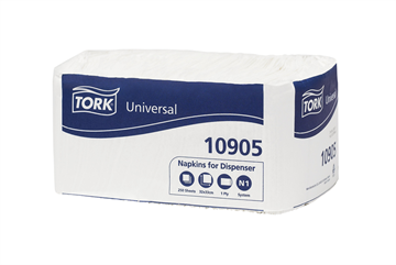 Tork Universal Napkins for Dispenser Nova 1-laags 32 x 33 cm 4000 stuks (10905) met staffelkorting!